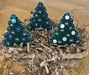 Primitive Christmas Trees. Ornies , Bowl Fillers
