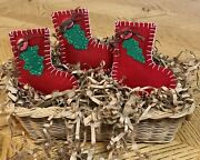 Primitive Christmas Stocking Ornies. Bowl Fillers