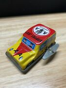 Vintage Japan Lithograph Tin Wind Up Toy Aa American Airlines Airport Jeep Rare