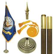 Global Flags Unlimited 203902 Us Navy Indoor Flag Set 4'x6' 9'