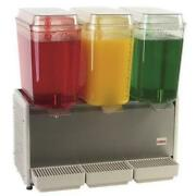 Crathco D35-4 3 Bowl Refrigerated Beverage Dispenser With Plastic Side Panel