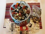 Vintage Clothing Buttons Estate Lot Collection Sewing 7lbs