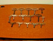 Assortment Of Clock Keys For Mostly Antique Clocks A Few For Cabinets  18