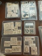 Stampin Up Lot Of 11 Stamp Sets Flowers Bees