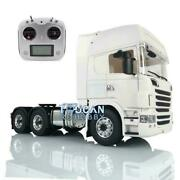 Hercules 730 1/14 Lesu 6x6 Metal Chassis Rc Tractor Trcuk Sound Radio For Scania