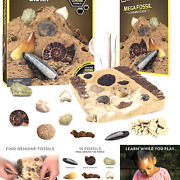 National Geographic Mega Fossil Dig Kit – Excavate 15 Real Fossils Including ...