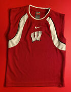 Wisconsin Badgers Nike Youth Tank Top Size 5 Ncaa College Football Basketball