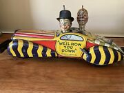 Marx Toys Mccarthy And Snerd Tin Litho Wind Up Toy Car