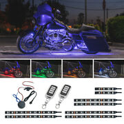 Ledglow 8pc Wireless Million Color Smd Led Motorcycle Engine Glow Lights Kit