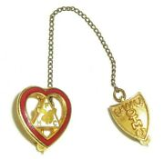 Order Of The Moose Lodge Ladies Sweetheart Pin Double Pin Vintage Wotm