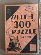 Witch 300 Jigsaw Puzzle Salem Chemical Supply Co. The Old Canal 1930s Rare