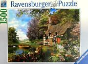 1500 Piece Jigsaw Puzzle Country Cottage Complete Made In Germany Mint Cond