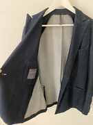 Montedoro Double-breasted Navy Blazer Made In Italy 🇮🇹 - Size M