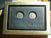 1883 No Cents And 1908 Liberty V Nickels. Nice Display/gift Box Included.