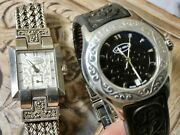 Lois Hill Watch, Working Watches, Sterling Silver Band And Black Band