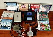 Nintendo Ds Lite Black Console Bundle With 8 Games Case And 2 Chargers