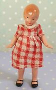 Antique Bisque Jointed Doll Dollhouse German Miniature 3.2 Around 1930s