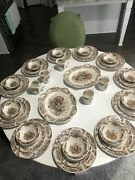 Johnson Brothers Woodland Turkey Made In England Plates 40-piece Service For 11