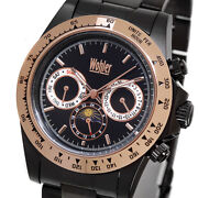 Wohler Hegel Mens Automatic Luxury Blk Ip Ss Watch New 1495