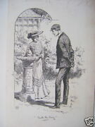 Illustration With The Ring Sundial H.m.lewis Ink C1893