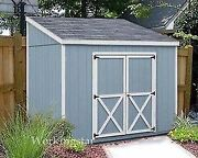 4and039 X 8and039 Slant / Lean To Style Shed Plans / Building Blueprints And Guides E0408