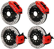 Wilwood Disc Brake Kitcomplete2005-2014 Ford Mustang13red Calipersdrilled
