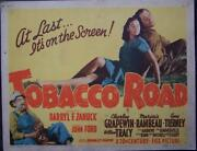 John Ford'stobacco Road,gene Tierney,title Card , Lc87