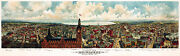 Vintage Old Poster.home Wall.1800 Sharpest Panoramic Milwakee.545