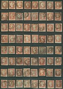 Great Britain 3 Group Of 128 One Penny W/numeral Cxls