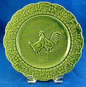 Bordallo Pinheiro 12 Rooster And Hen Accent Plates