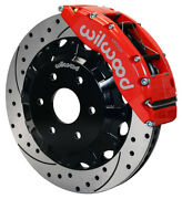 Wilwood Disc Brake Kitfrgmcchevy Truck 150016red Calipersdrilled Rotors