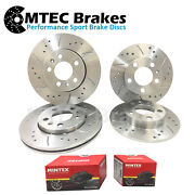 Bmw 3 E90 335d 09/06- Drilled Grooved Front Rear Brake Discs+pads