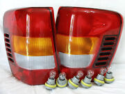 W/6 Bulbs/ 6 Sockets Rear Tail Light Lamps One Pair For 2002-2004 Grand Cherokee