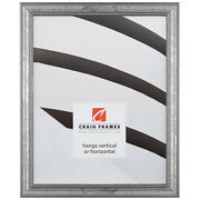 Craig Frames .75 Wide Beaded Aged Silver Wood Picture Frames And Poster Frames