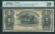 Canada 1 Outward Oneandrsquos Series N Dc-13c Pmg Grade 20