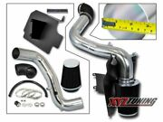 3 Black Heat Shield Cold Air Intake Kit + Filter For 98-03 S-10/sonoma 2.2l L4