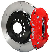 Wilwood Disc Brake Kit,rear,05-10 Charger,chrysler 300,14 Rotors,red Calipers