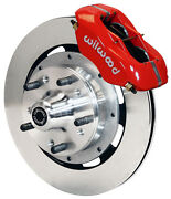 Wilwood Disc Brake Kitfront65-69 Fordmercury12 Rotorsred Calipers