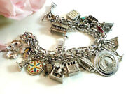 Vintage Sterling Silver Charm Bracelet Assorted Charms Vintage Jewelry