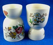 Spode Two Gainsborough Marlborough Floral Egg Cups Made In England - Estate