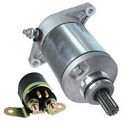 Starter And Solenoid Relay For Suzuki Ltf 300 Lt-f300 King Quad 99 2000 2001 2002