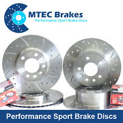 Bmw E92 335i 335d Coupe 09/06- Front Rear Mtec Drilled Brake Discs And Mintex Pads