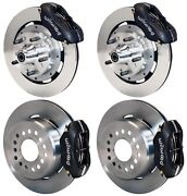 Wilwood Disc Brake Kit,cdp 62-72 B,70-72 E-body W/drums,12 Rotors,black,w/cable