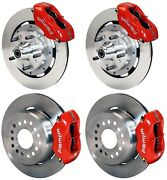 Wilwood Disc Brake Kit,cdp 62-72 B,70-72 E-body W/drums,12 Rotors,red,w/ Cable
