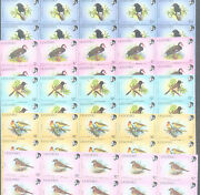 Wholesale 500 Mint Of 5 Different Rare Species Lesotho Bird Stamps = Total 2500