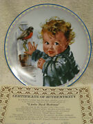 Little Red Robins Limited Edition Collectors Plate Edwin Knowles
