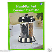 Cookie Jar Hand-painted Ceramic Treat Jar Kitchen Home Treats Storage Canisters