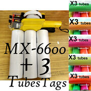 Mx-6600 2 Lines Price Tag Gun Labeler +3 Tubes Tag +1 Ink Red Pink Green Yellow