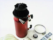 Vms Aluminum Oil Reservoir Catch Can Tank With Breather Filter Baffled Red