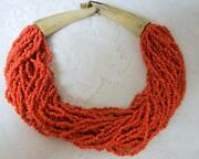 Vtg Gerda And Nikolai Monies Haute Couture Runway Natural Coral Necklace Choker